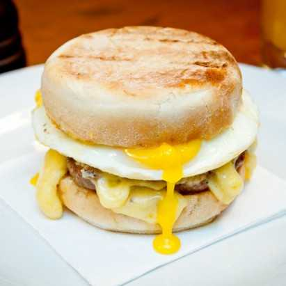 Hawksmoor Steakhouse - Sausage & Egg Hkmuffin