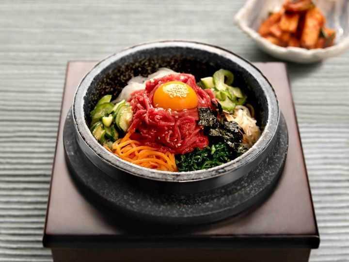 The Chicken / Beef/ Raw Beef Dolsot bibimbap at Kimchee